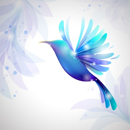 Hummingbird on pastel background  fine background for  Beauty Industry Illustration