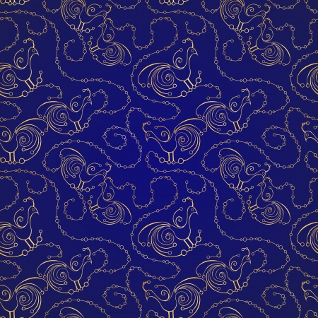 Seamless pattern with stylized birds Illustration