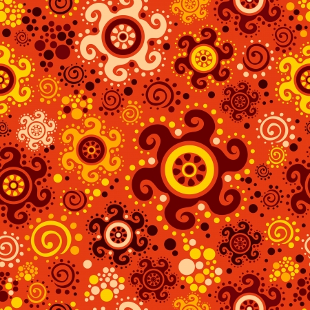 bright vector seamless background in ethnic style Illustration