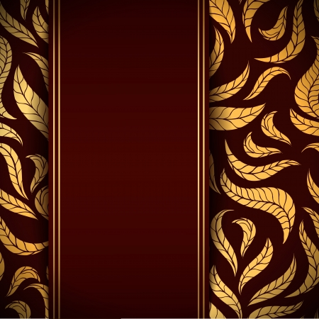 Vector background with stylized leaves Illustration