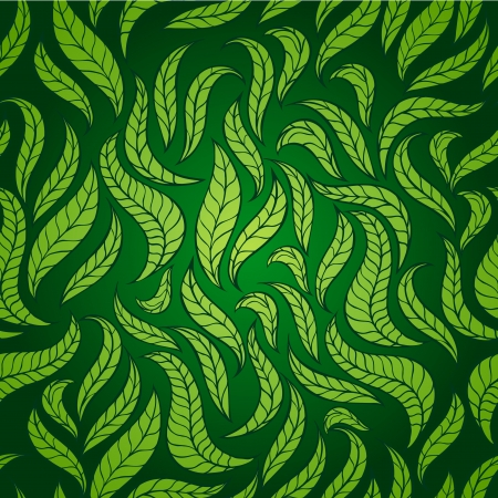 Seamless background with stylized leaves or feathers