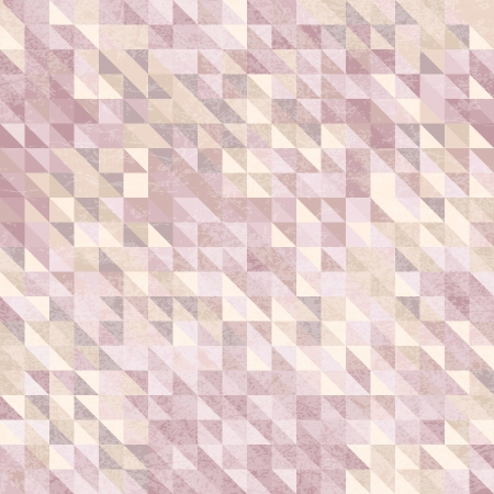 Geometric background of colored triangle in pastel colors with  grunge texture Illustration