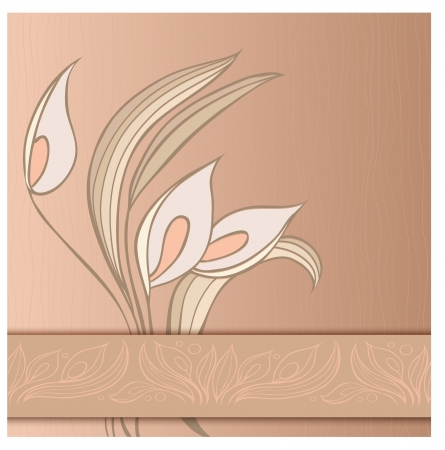 Floral greeting card with callas