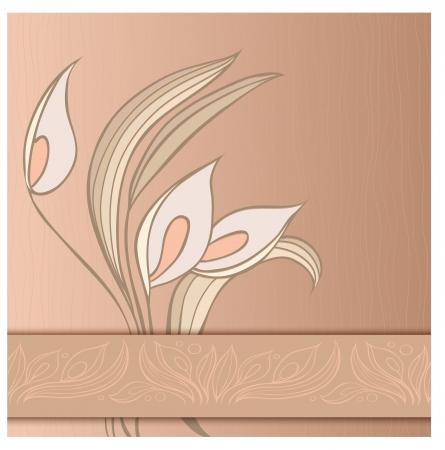 callas: Floral greeting card with callas