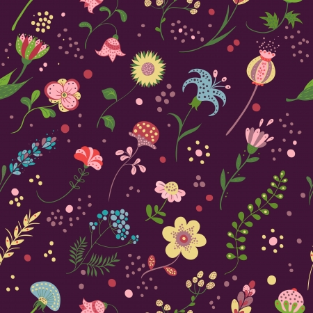 FloralFloral seamless pattern  in a cartoon style Stock Vector - 22736055