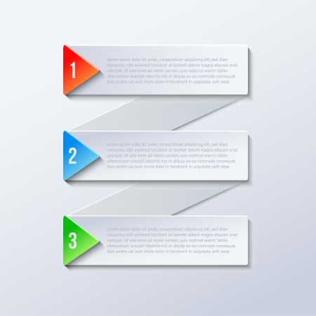 Modern business steps origami style options banner with colored triangle Illustration