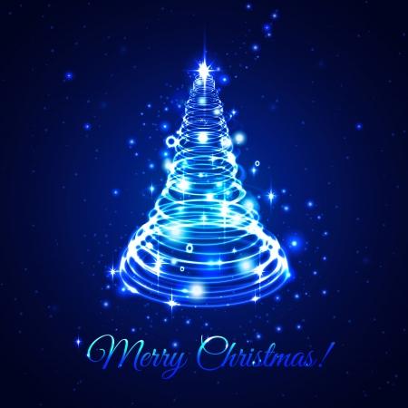 Abstract shine  christmas tree Illustration