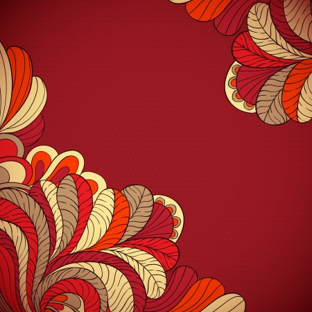 Vector background of stylized leaves Vector