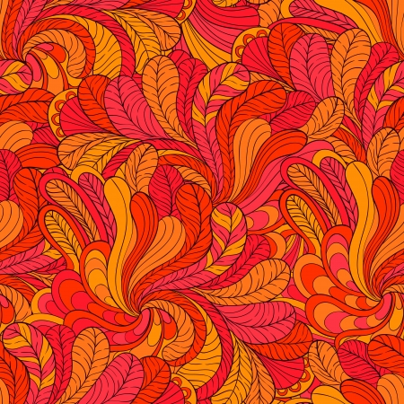 Vector background of stylized leaves Illustration