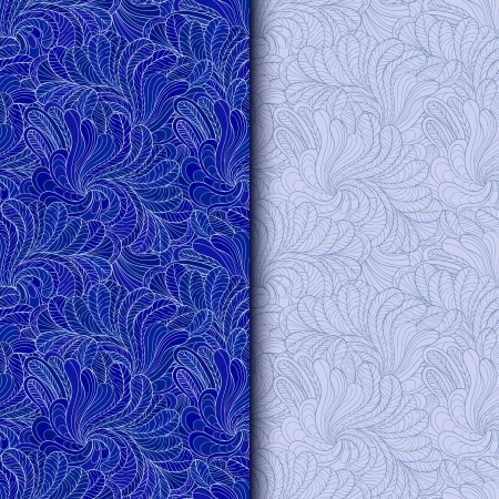 Two winter seamless background Vector