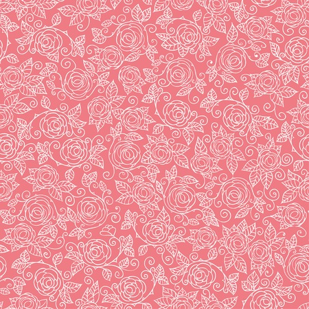Seamless Rose Pattern, vector background