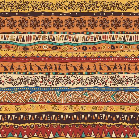 アフリカ スタイルの明るいシームレス パターン。