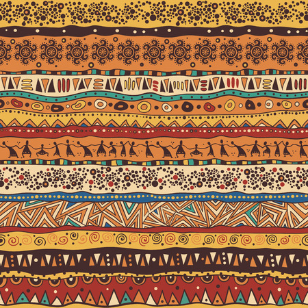 Bright seamless pattern in African style.