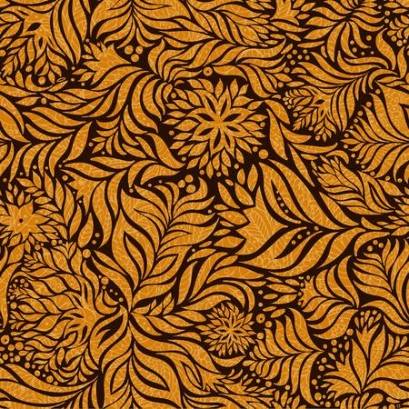Vector sin patrón flores abstractas. Fondo sin fin. Ilustración de vector