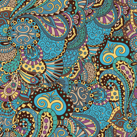 Elegant pattern of flowers and leaves in oriental style. It can be used for  textiles, designs, etc.
