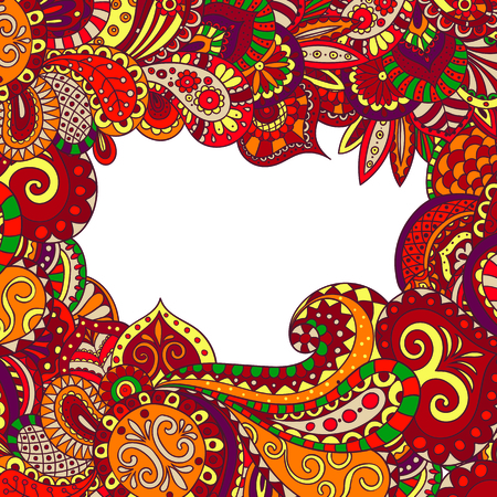 pattern frame of flowers and leaves in oriental style.