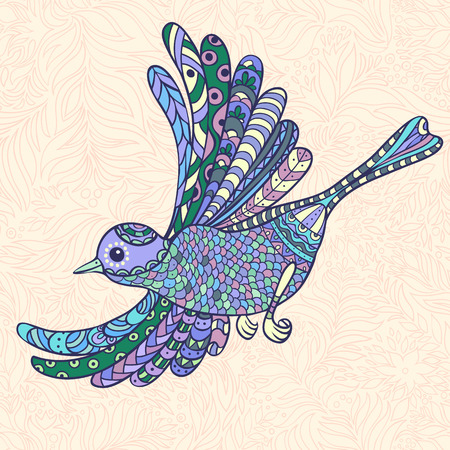 The bright decorative illustration with  patterns. Can be used in fabric design for making of clothes, accessories, creating decorative paper, wrapping, envelope, in web design