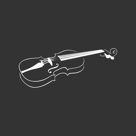 Violin on a grey background. Vector image