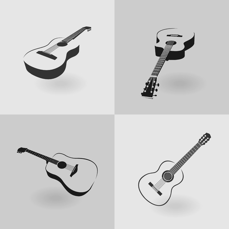 strum: Four classic guitar Illustration