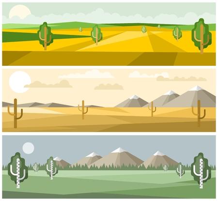Colorful landscapes nature Illustration