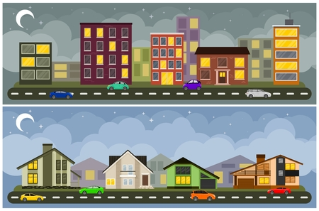 city lights: Landscape and cityscape