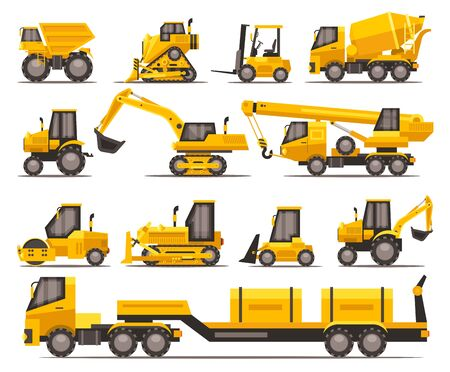 Earth moving machinery Illustration