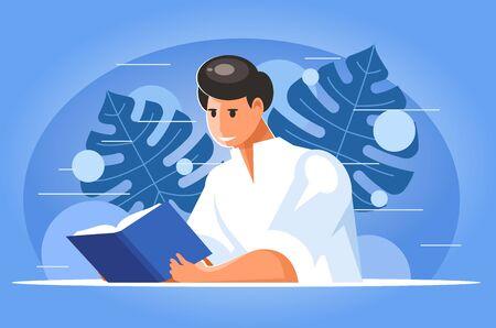 Man reading a book Illustration