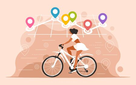 Navigation with location pin Illustration
