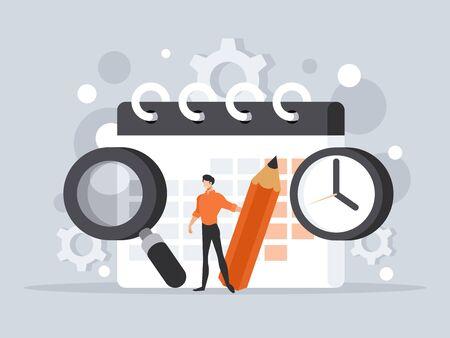 Time management concept Illustration