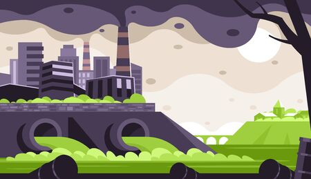 Industrial waste emissions Illustration