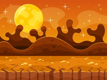 Martian Background For Ui Game Illustration
