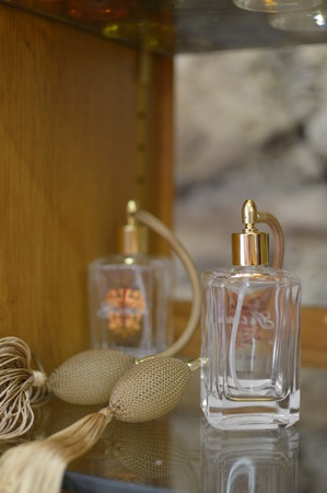 france perfume: Ancient perfume laboratory in the village Gourdon France