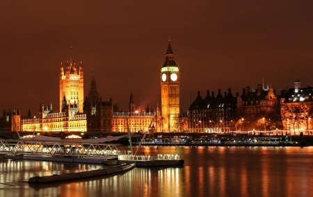 Big Ben v noci Reklamní fotografie