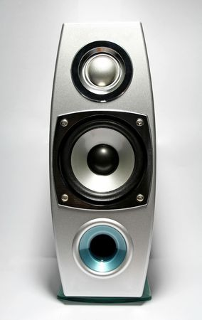 surround system: Powerful Speaker Stock Photo