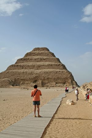 pyramid peak: Step pyramid at Saqqara, Egypt