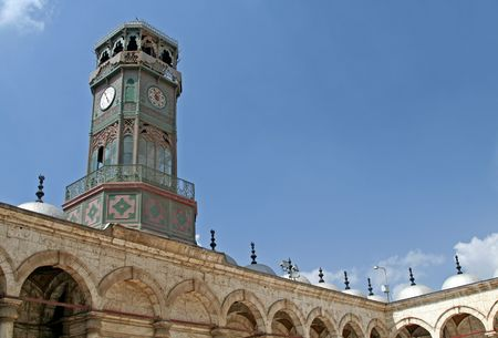mohammed: Ornate clock at the Mosque of Mohammed Ali, Cairo Stock Photo