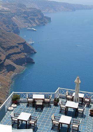 Restaurant at Santorini Island, Greece