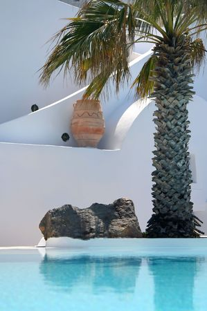 plum island: View of a hotel at Santorini Island, Greece
