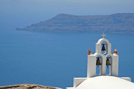 Bell tower at Santorini Island, Greece Stock Photo - 468442
