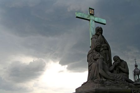Storm and statue photo