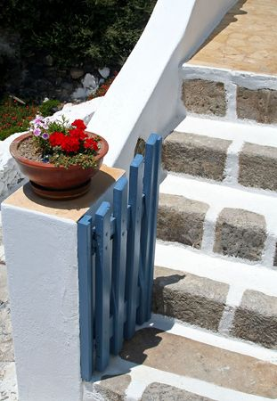 An entrance of a house photo