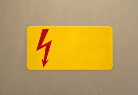 dodgy: Yellow colour Danger and alert Sign board Stock Photo