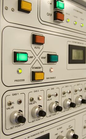 Control panel of a clean-room equipment Stock Photo - 3944692