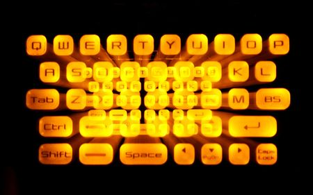 yellowish: Keyboard Special Effect   Stock Photo