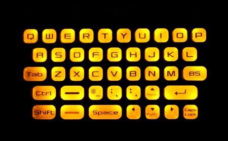 Illuminated Keyboard with dark background   photo