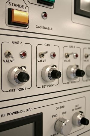 dial pad: Control panel of a clean-room equipment