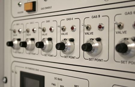 Control panel of a clean-room equipment Stock Photo - 3944608