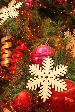Christmas tree decorations with beautiful lighting Stock Photo - 3980342