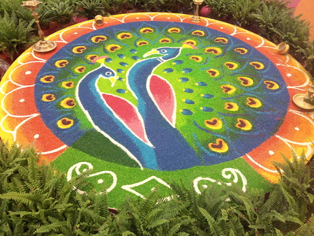 Colourful decoration for Deepavali celebration Editorial