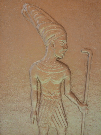 carving Egyptian on wall